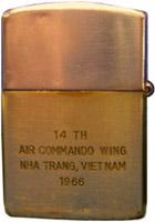 Zippo: (Back) Myers, Glen H., Nha Trang AB, 14th SPS; Phan Rang AB, 35th SPS; Da Nang AB, 366th SPS, 1965-1966; 1971.