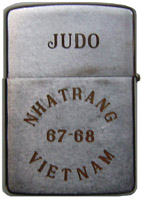 Zippo (Back): JUDO (K-9), NHA TRANG AB, 67-68, VIETNAM. Walker, Steve, 14th SPS, K-9, JUDO, 1967-1968