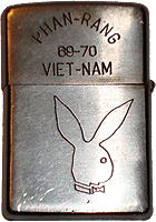 Zippo: (Back) Mario P. Campanaro, 35th Security Police Sqdn., Phan Rang 69-70, Viet-Nam, 1969-1970