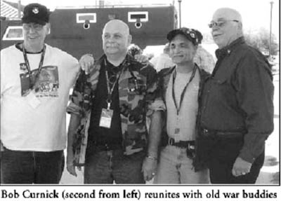 Reunite: Bob Curnick and old war buddies.